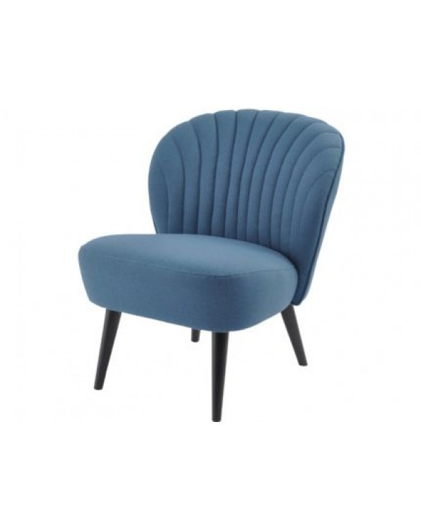 Curve Shell Back Retro Occasional Chair petrol Bl...